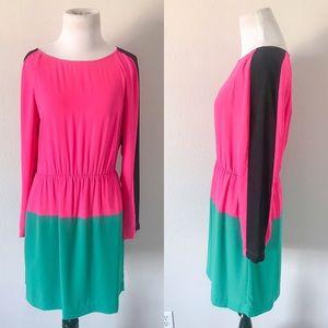 NWT {BCBGMaxAzria} Marcel Color Block Dress